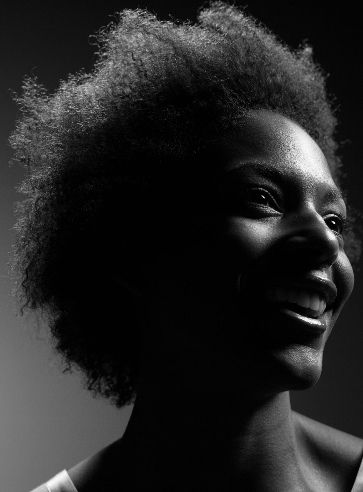 Black and white portrait of young African woman on wakilisha.africa